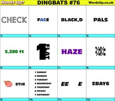 Dingbats & Whatzits Rebus online and printable Puzzles Rebus Puzzles, Printable Puzzles, Word Up, Word Play, Brain Games, Word Games, Brain Teasers, Free Quotes, Quizzes