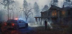 Evgenij Kungur on Behance Scary Paintings, D20 Modern, Resident Evil Girl, Post Apocalyptic Art, Apocalypse Art, Highway To Hell, Matte Painting, Dark Fantasy Art, Postmodernism
