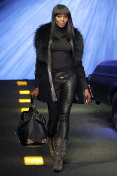 Naomi Campbell in a look from Philipp Plein. [Courtesy Photo]