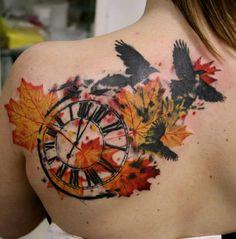 trash polka flower tattoo - Google Search