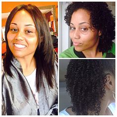 3 months since my #BC. Did a #Dominican #BlowOut. The straightest my hair has ever been!