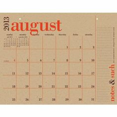 2014 Paper Source Academic Great Big Wall Calendar