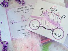 Aporte: Invitaciones de princesas disney facilies para hacer y muy elegantes!