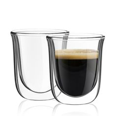 Double Walled Espresso Cups Glasses,each glass holds 2 oz