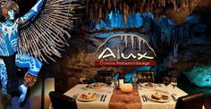 Alux Restaurant unique cave restaurant in Playa w/ great reviews from Trip Advisor and Lonely Planet.