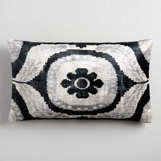 Oversized Suzani Velvet Lumbar Pillow