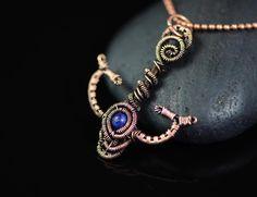 Anchor pendant copper wire wrapped jewelry blue lapis lazuli gemstone nautical marine jewelry sailor sailing yacht unisex handmade jewelry by OrioleStudio on Etsy https://www.etsy.com/listing/255138911/anchor-pendant-copper-wire-wrapped