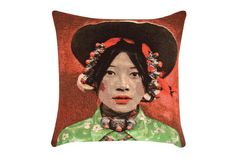 Tapestry cushion, £56, by RE at Liberty (www.liberty.co.uk)