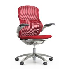 Understanding that sitting still and looking forward is just one of the ways to sit, we introduced Generation by Knoll®, the ergonomic chair that moves with you. Knoll Chairs, Chair Height, Ergonomic Chair, Design Within Reach, Chair Design, Office Chairs, Desk Chairs, Office Furniture, Room Chairs