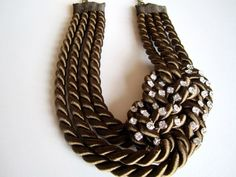 15 OFF Brown sailor's knot necklace and by TeaAccessories on Etsy, $23.80