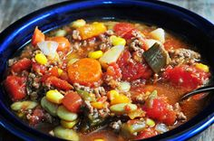 Slow Cooker Vegetable Soup Recipe - Cooking | Add a Pinch | Robyn Stone Healthy and Easy! I think that you could even change up the veggies, maybe a little zucchini?