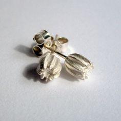 Butterfly egg silver post earrings by SuKeatesJewellery on Etsy