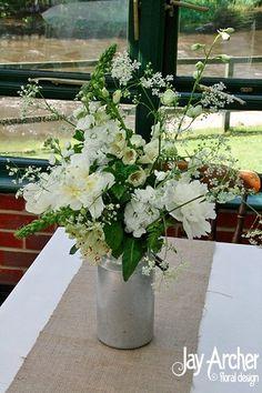 Mini milkchurn- eclectic flower vessels