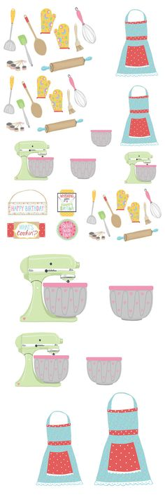 Get baking with these sweet retro baking printables!
