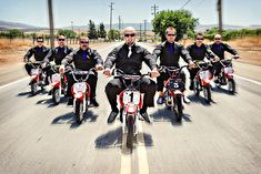 Group Photography Ideas: 20 Creative Wedding Poses for Bridal Party  omg love!... if only all the guys were cool enough to have bikes lol