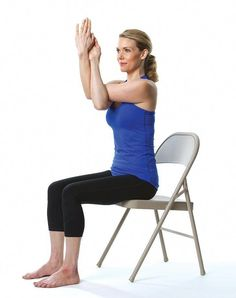 Chair Yoga Poses for Stress and Posture - PureWow  yogahelpsleep Sillas c070f415690f