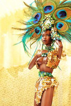 The Carnaval Queen Barbie I, Black Barbie, Barbie World, Barbie Clothes, Fashion Dolls, Fashion Royalty Dolls, Diva Dolls, Dolls Dolls, Divas