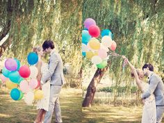 summer, balloon, engagement, setting, outdoor, garden, decor, country, miscellaneous, place setting, balloons