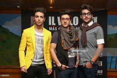 Singers of Italian opera pop Il Volo Gianluca Ginoble, Piero Barone and Ignazio Boschetto attend a photocall to promote their new album 'Mas Que Amor' at Presidente Intercontinental hotel on May 13, 2013 in Mexico City, Mexico.