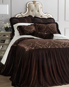 """ooolala this is the bed i would have if i was single lol """"Charlize"""" Bed Linens by Isabella Collection by Kathy Fielder at Horchow."""