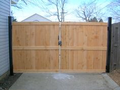 wooden privacy fence gates | Wood Fences