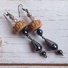 Wine Cork Earrings by TrueVineGifts on Etsy