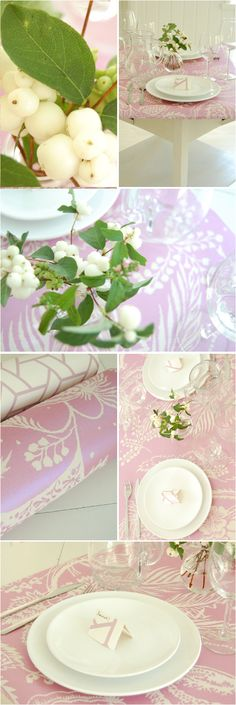 DIY Table: Wallpaper Runner + Name Tags - Project Wedding