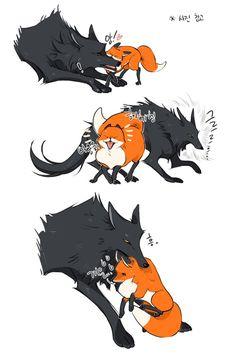 Cute Fox Drawing, Cute Animal Drawings, Cute Drawings, Character Concept, Character Art, Character Design, Anime Wolf, Fox Art, Cute Chibi