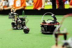 NXT mindstroms van Lego ook op de RoboCup 2013, Junior Soccer.