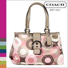 COACH tote bag ashley snaphead multi color (コーチ トートバッグ アシュレイ スナップヘッド マルチカラー) #F18805