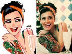 Artist transforms photos of random people in amazing illustrations - @ealmicla