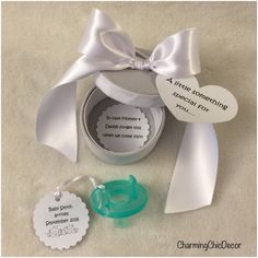 Pregnancy Reveal Gift Binkie Box with Pacifier - Grandparents, Family, and Friends