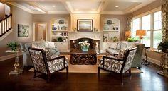 Elegant living space inside Wedgewood Building Company's new custom model home at Grandin Hall, Carmel, Ind.