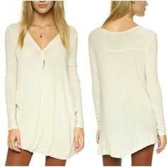 NWT Free People LS top - S SOOO soft and comfy. ❤️ Love that it's forgiving around the waist - I favor Flow-y  tops so I can feast and not worry about sucking in afterwords, lol - gotta keep it real!  Free People Tops Tees - Long Sleeve
