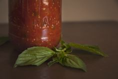 Tomato Basil Marinara Sauce - Food Photography - Homemade Marinara Recipe