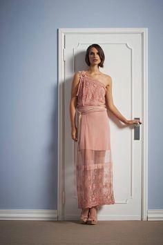 Beautiful long rose dress elegant Sonia Fortuna Spring Summer 2014 Collection