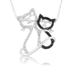 8/27/2012 Visit the Zoo Collection  $12.99  + FREE SHIPPING Diamond Accent Double Cat Sterling Silver Pendant