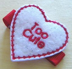 Too Cute Hair Clip for Valentines Day