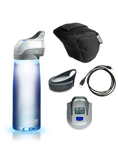 CamelBak All Clear ($99). This 750-milliliter water bottle uses UV light to purify nearly any tap or clear natural water source into potable drinking water in just 60 seconds. One five-hour charge with the USB cord lasts long enough to zap 16 gallons. #travel #gifts #ecofriendly