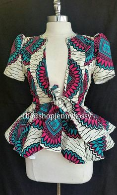 ROSE African print top,Ankara jacket, African print women Blouse