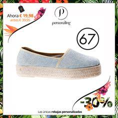 Las alpargatas son los zapatos de moda este verano. Consigue los tuyos en las únicas rebajas personalizadas #RebajasPersonaling