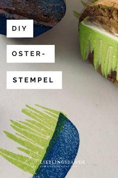 Einfaches DIY für einen Stempel zu Ostern Avocado Toast, Kids, Food, Easter Bunny, Simple Diy, Christmas Time, Stamps, Christmas, Crafting