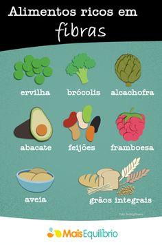 Inclua mais fibras na sua alimentação…