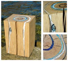 stump furniture | Bloc Wooden Stump Ocean Art Stumps as art furniture or sculptures