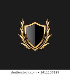 Monogram Letters Font, Crow Logo, Design Art, Logo Design, Golden Logo, House Of Beauty, Gold Dragon, Shield Design, Business Card Logo