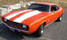 1969 Camaro Z28.  Hugger orange