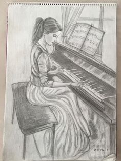 # pencil drawing # picture # my work dessin dessin Music Drawings, Dark Art Drawings, Girly Drawings, Pencil Art Drawings, Colorful Drawings, Disney Drawings, Easy Drawings, Charcoal Drawings, Pencil Drawing Pictures