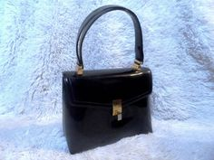 Vintage Patent Leather Black Handbag  The Lee by JANEBONDNY, $29.95 CHANEL STYLE CHIC!!! BUY IT HERE:www.etsy.com/shop/JANEBONDNY