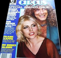 Robert Plant of Led Zeppelin with Debbie Harry on cover of Circus magazine