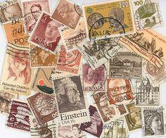 Brown postage stamps scrapbooking by gracealleytreasures on Etsy, $2.50
